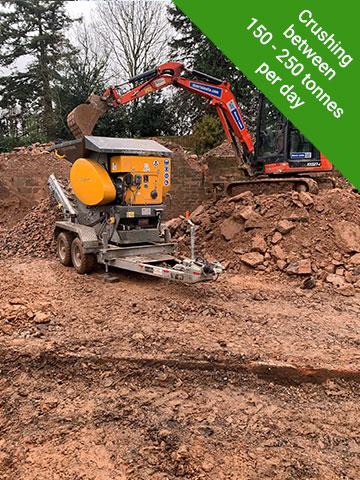 Concrete Crusher - 150-200 tonnes per day