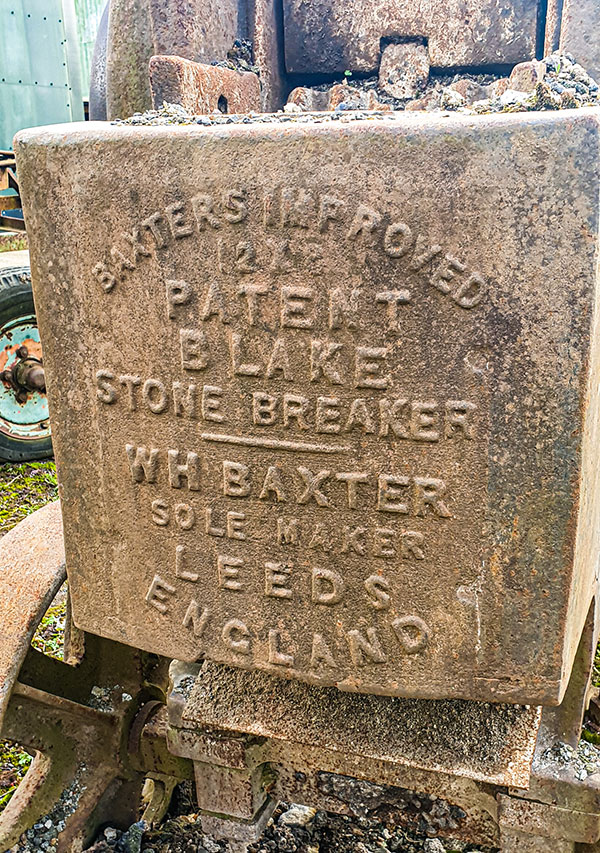 Early Concrete Crusher made by WH Baxter of Leeds