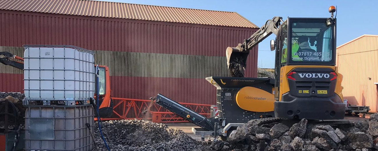 Concrete Crusher for Hire Devon